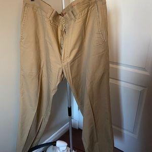 Haggar straight fit khaki pants